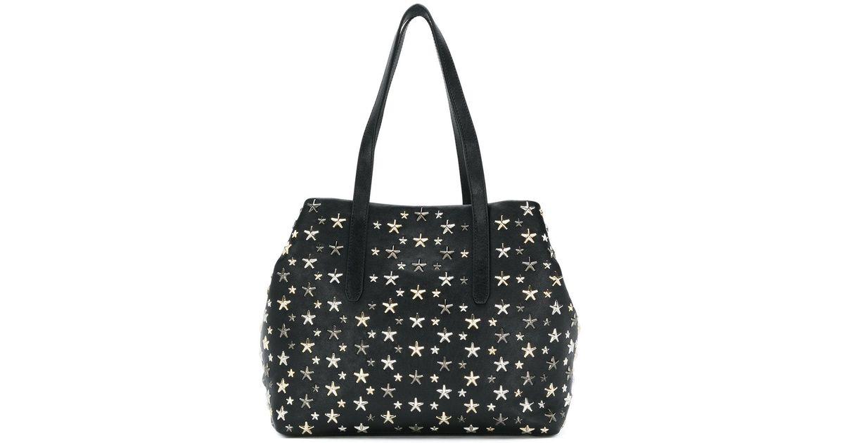 98306bed5 ... Jimmy Choo Tote Handbag: Jimmy Choo Sofia Star Studded Tote In Black ...