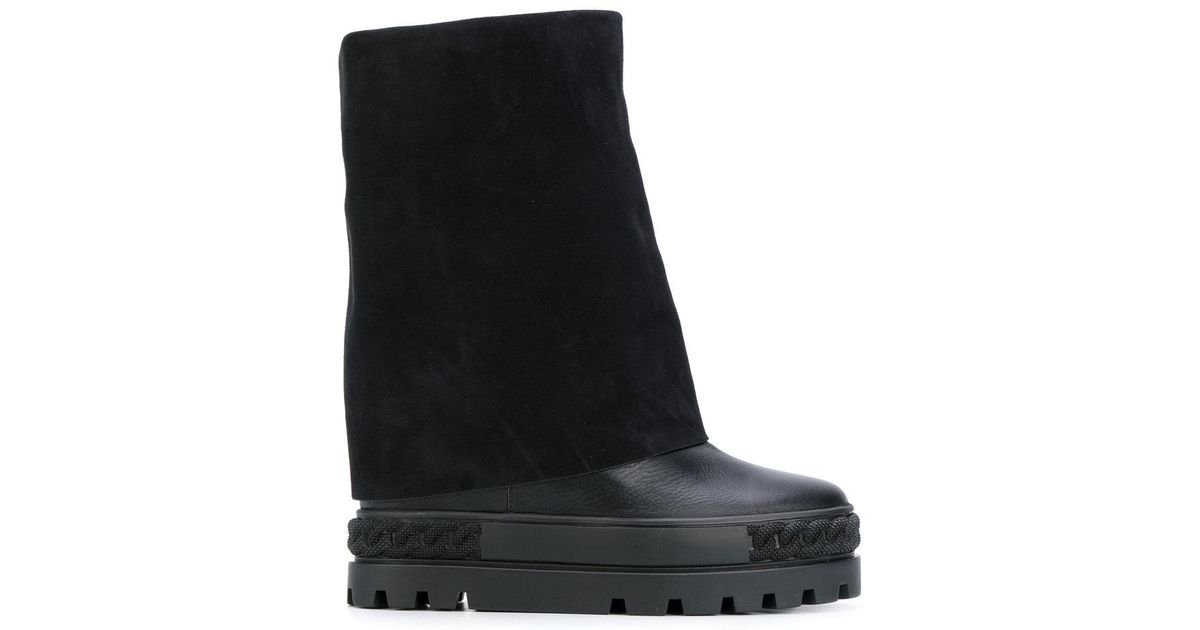 100% Original jewelled concealed wedge boots - Black Casadei Outlet Store Footlocker Finishline Cheap Price Buy Cheap Discounts Official Site Cheap Price 988bl