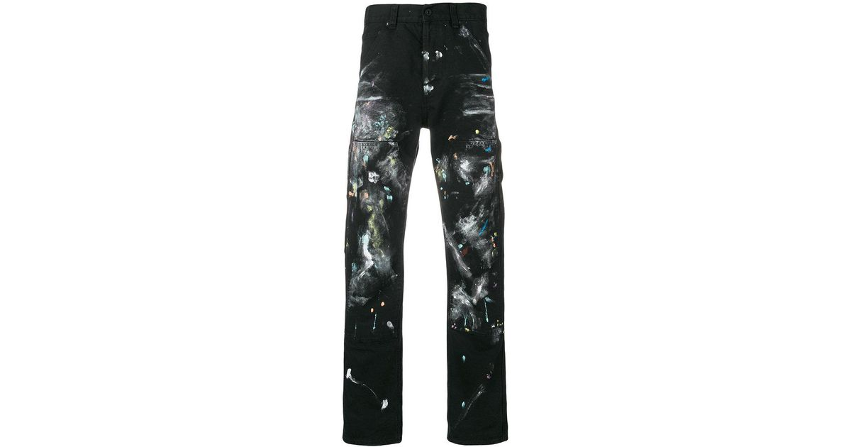 21357a14f75 Lyst - Off-White c o Virgil Abloh Paint Splatter Jeans in Black for Men