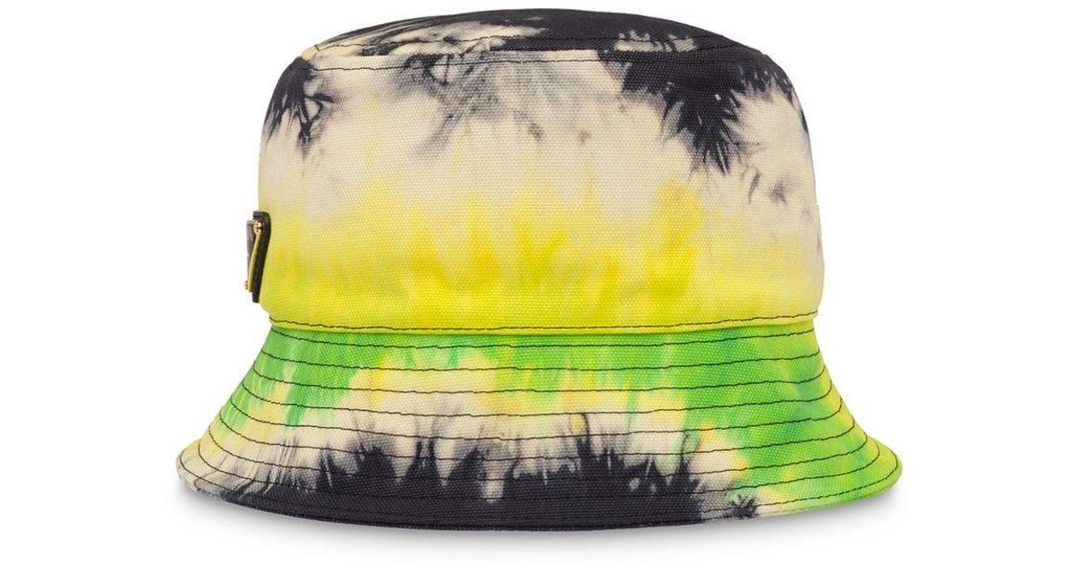 1cd9b89f175bde Lyst - Prada Tie-dye Bucket Hat in Black