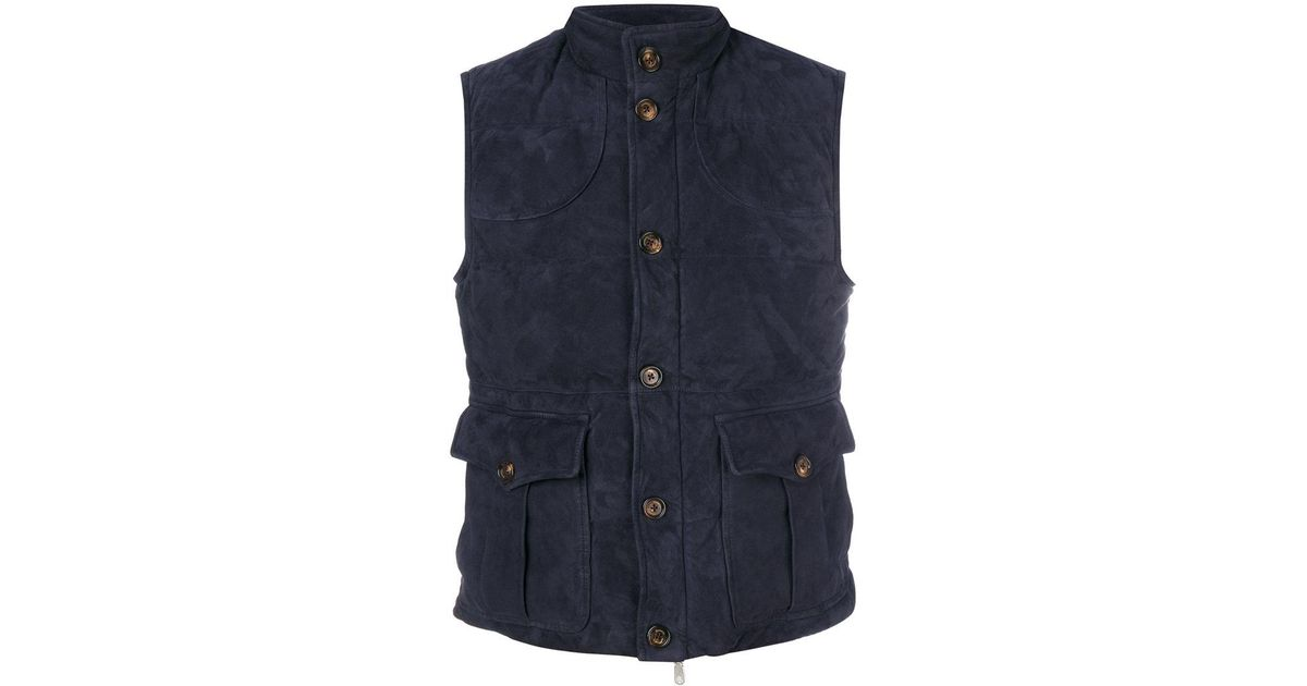 1d1d5d6e Lyst - Eleventy Cargo Vest in Blue for Men