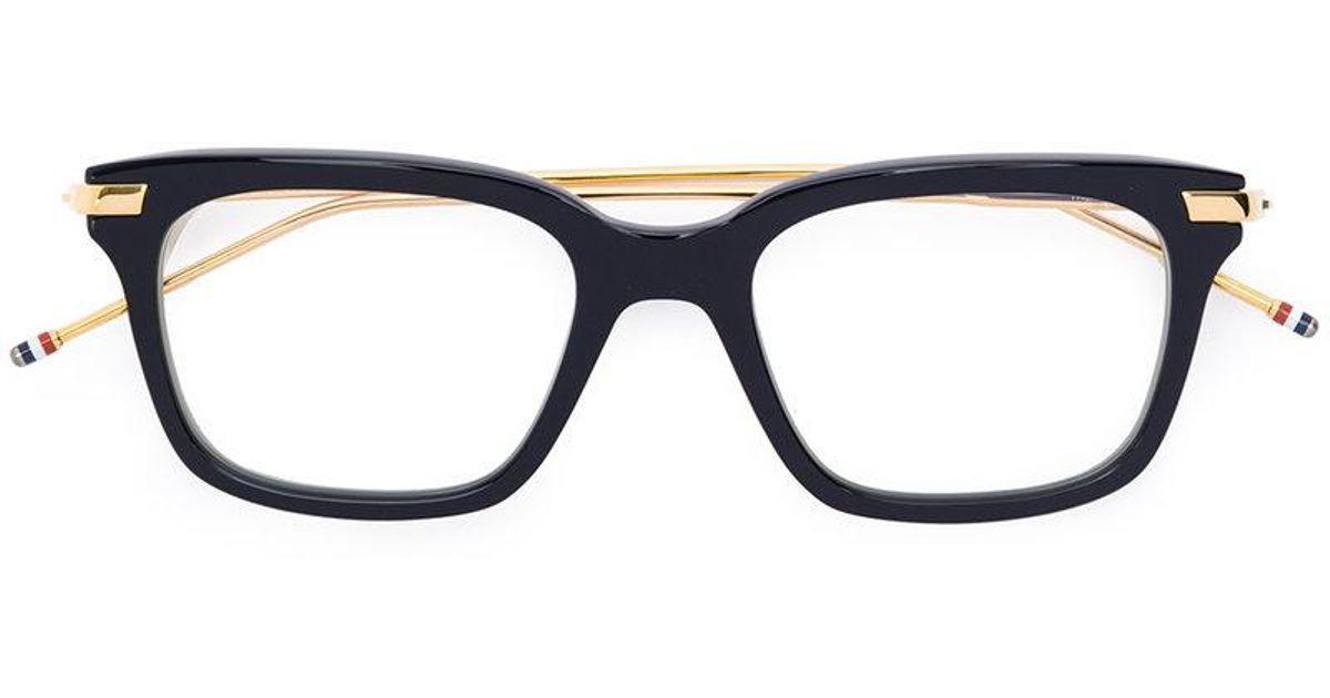 Lyst - Thom Browne Rectangle Frame Glasses in Black