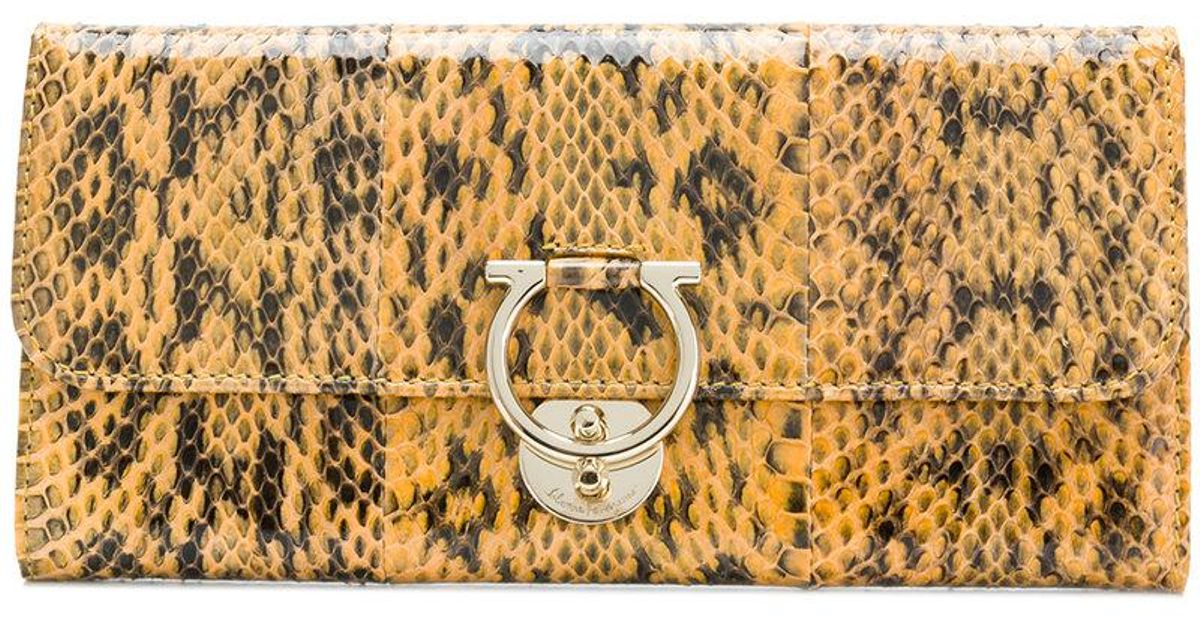 Jet Set Gancio wallet - Yellow & Orange Salvatore Ferragamo