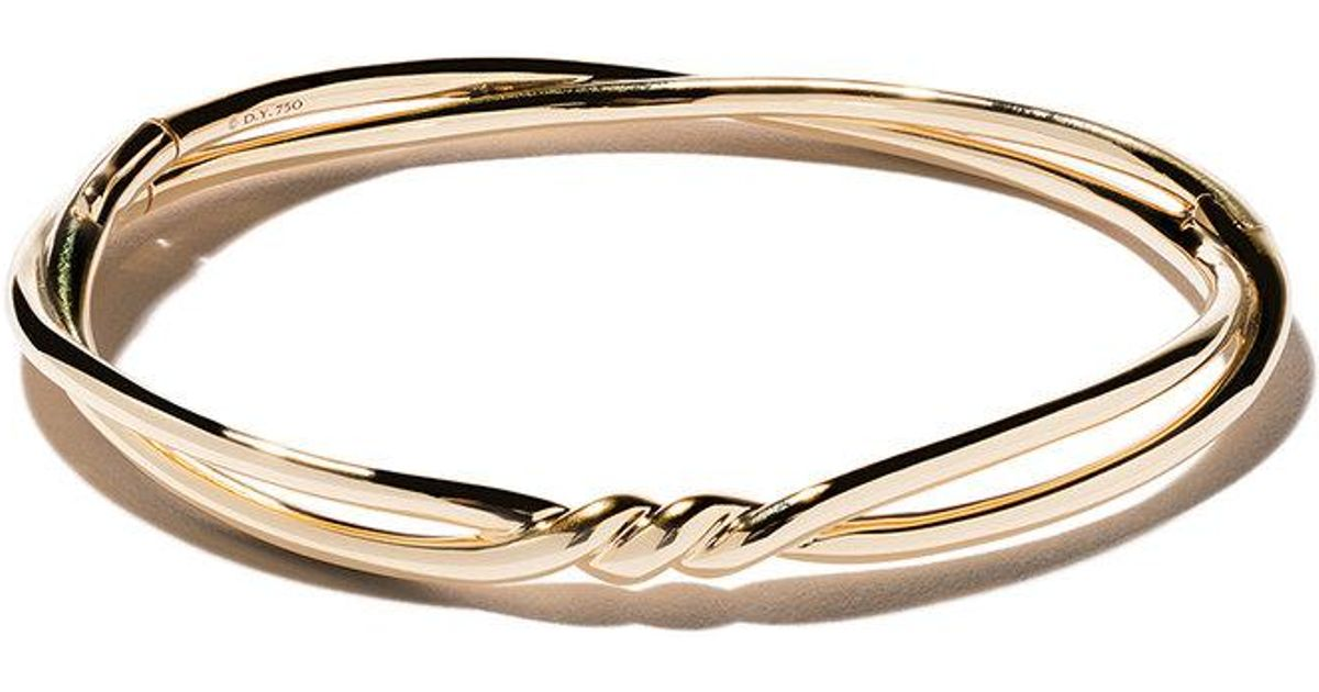 18kt yellow gold Continuance center twist bangle - Metallic David Yurman DdJhv