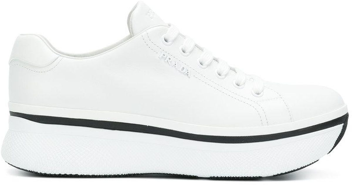 Prada Chaussures Plate-forme Muve - Blanc jzIgyIO