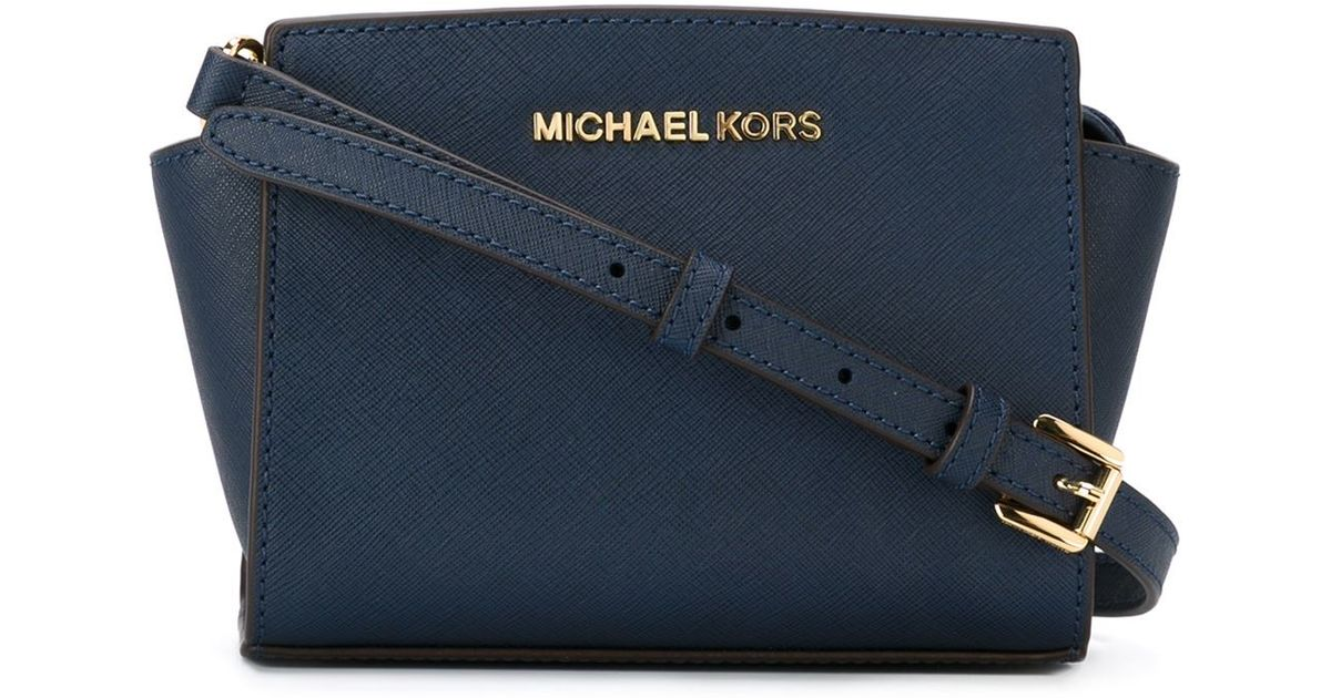 michael michael kors small 39 selma 39 crossbody bag in blue lyst. Black Bedroom Furniture Sets. Home Design Ideas