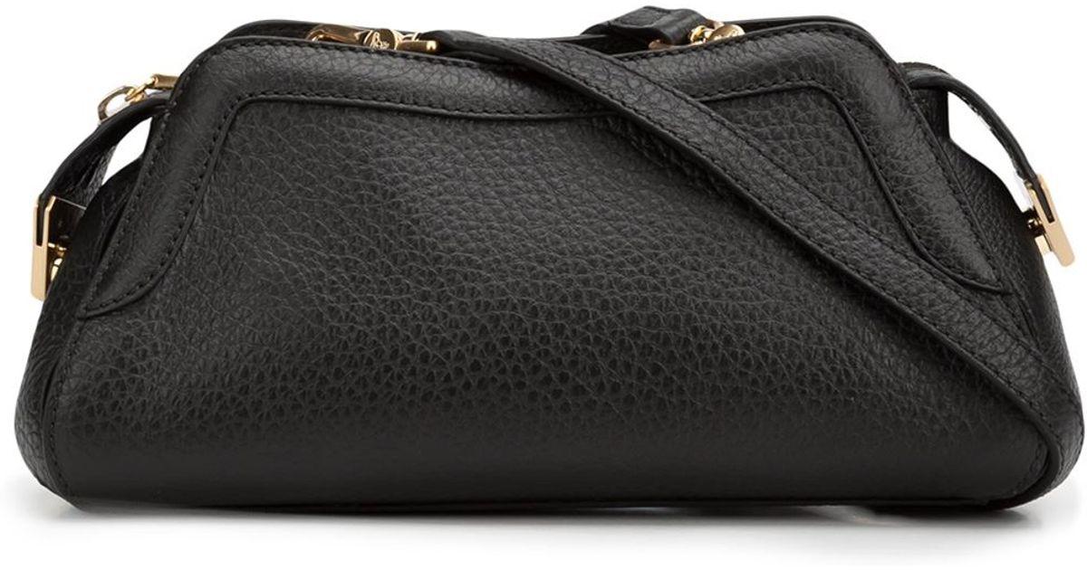 59a9085f91d2 Vivienne Westwood  kensington  Textured Zip Up Shoulder Bag in Black - Lyst