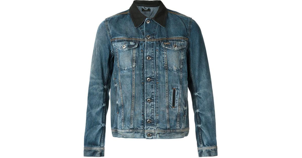 e0c65f6611c69 Lyst - Diesel Washed Denim Jacket in Brown for Men