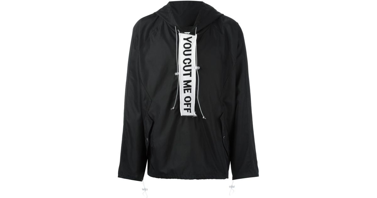 14b0d8faeaf7 Lyst - Off-White c o Virgil Abloh  you Cut Me Off  Anorak Jacket in Black  for Men