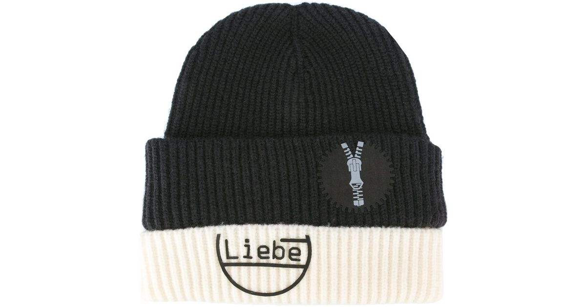 3e45d7cac8e Lyst - Maison Margiela -  liebe  Beanie Hat - Men - Nylon wool - M in Gray  for Men