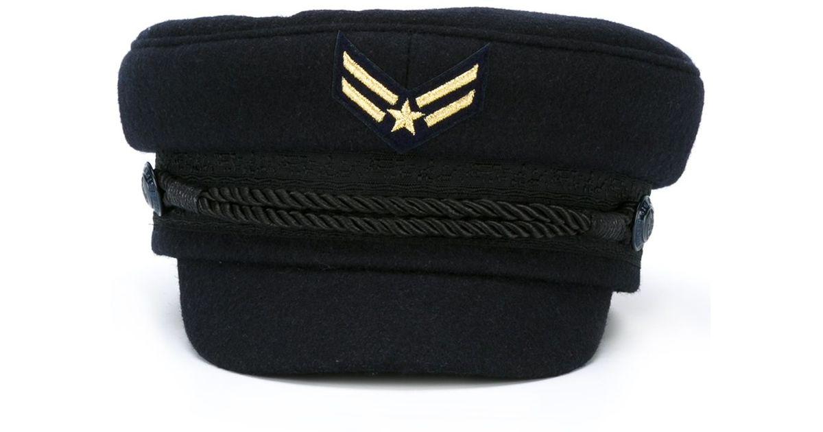 245a59127b3 Lyst - Tommy Hilfiger Tommy X Gigi Hadid Sailor Hat in Blue