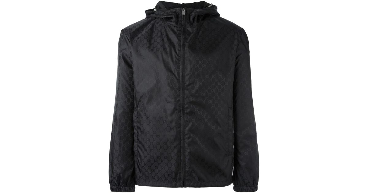 Black GG Windbreaker Jacket Buy Cheap Countdown Package Very Cheap Online bBgy8Yb