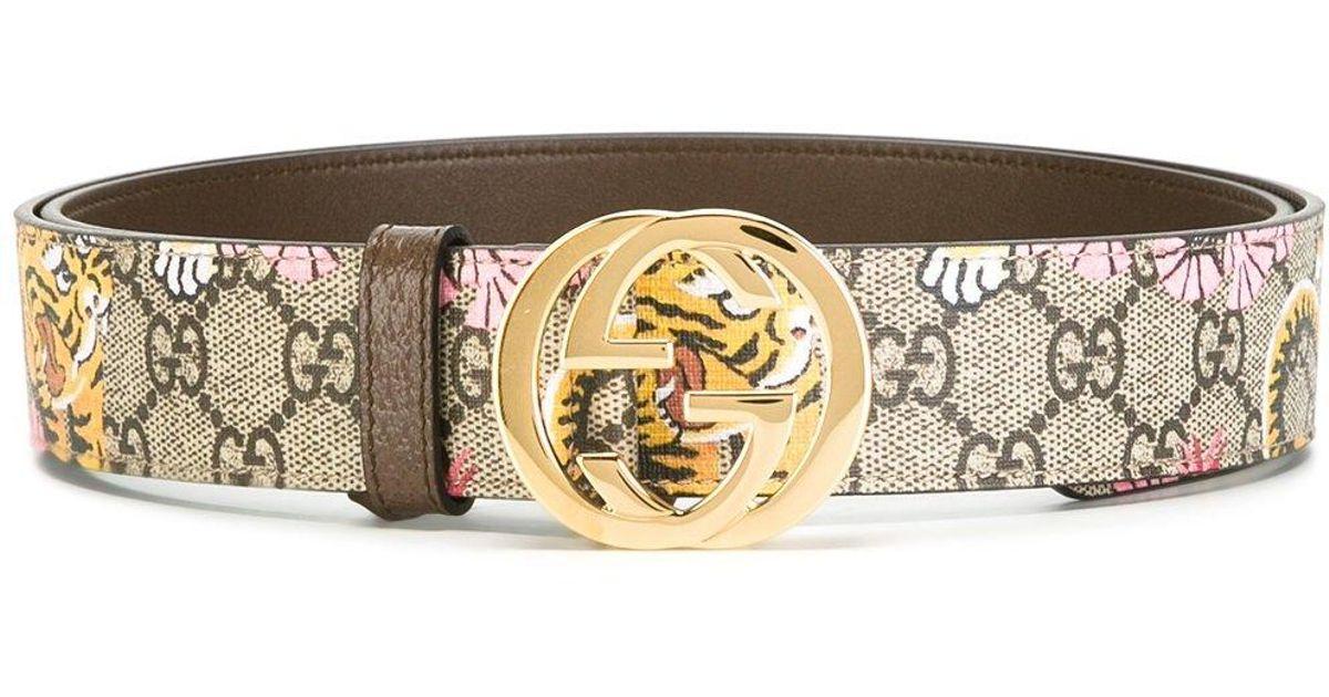 987a55f9af0 Lyst - Gucci Bengal Gg Supreme Belt