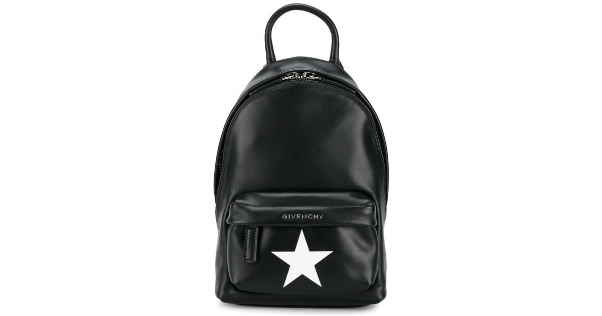 2795a9943a0c Lyst - Givenchy Star-printed Nano Backpack in Black