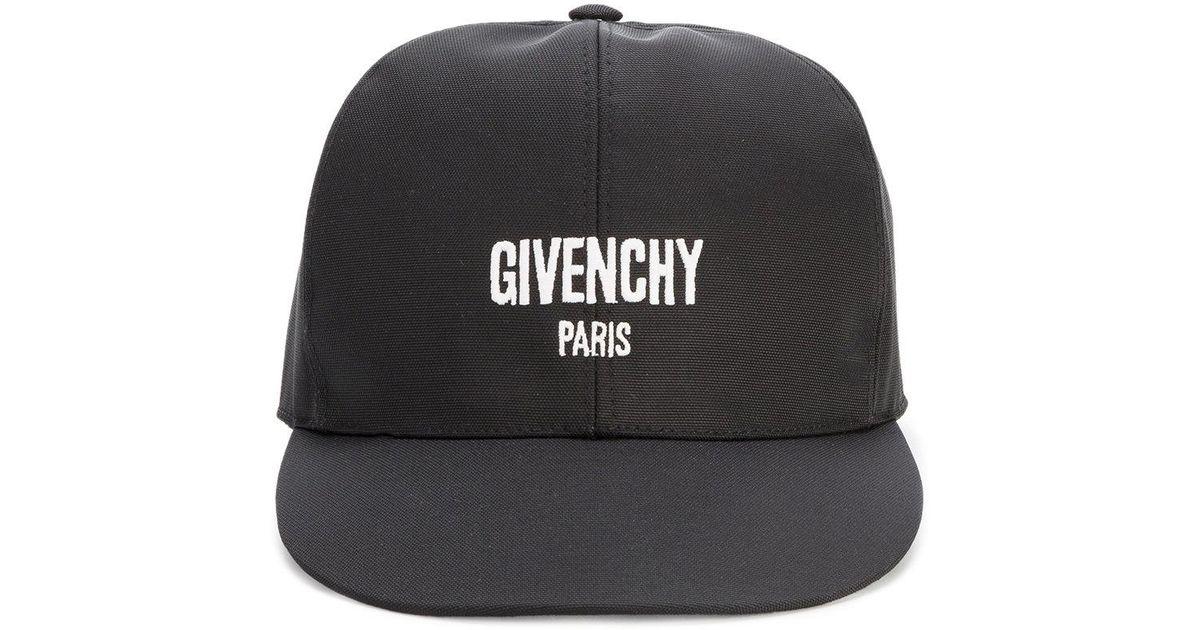 c811b81b9e9 Lyst - Givenchy Paris Logo Cap in Black for Men