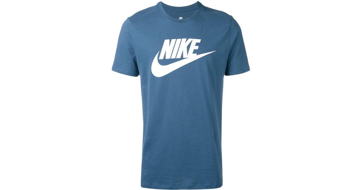 051493b7 Lyst - Nike Logo Print T-shirt in Blue for Men