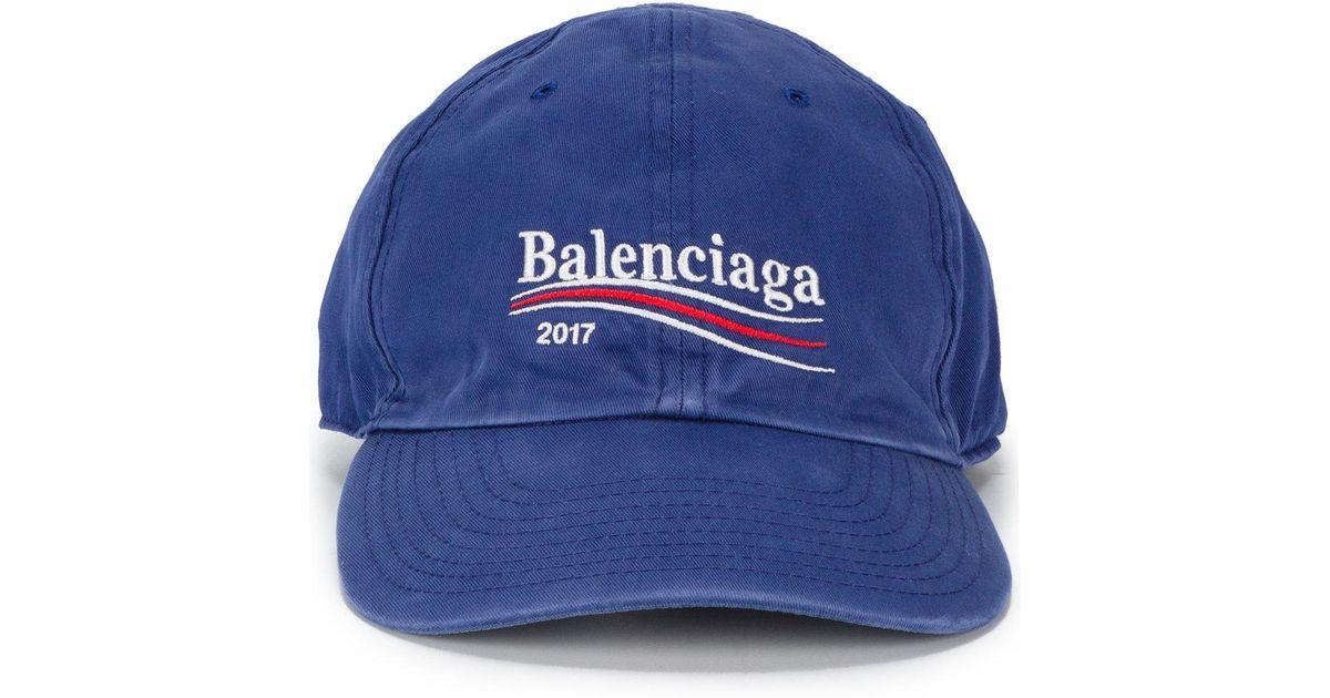 Balenciaga Cap - Blue Balenciaga TqSI2nv