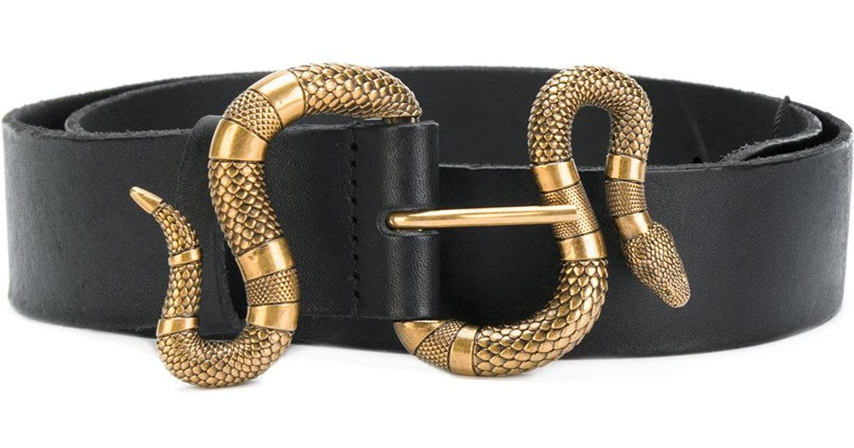 5c7c32e5a5c Gucci Snake Buckle Bag. Lyst - Gucci Snake Buckle Belt in Black ...
