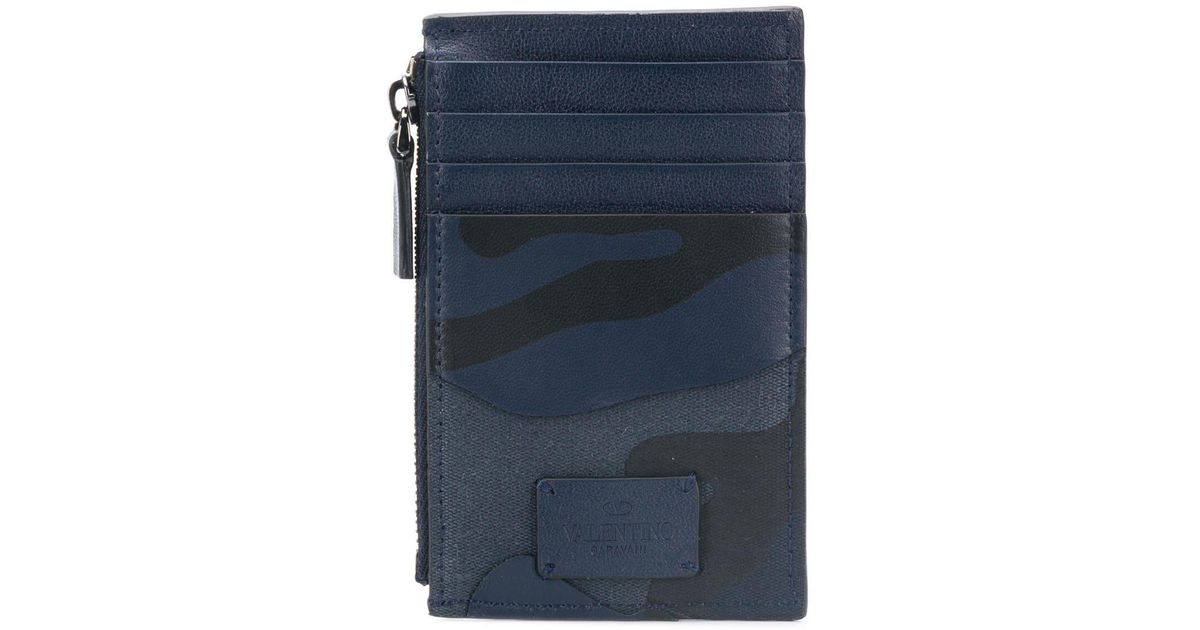 8747886b48 Valentino Garavani Camouflage Coin Purse in Blue for Men - Lyst