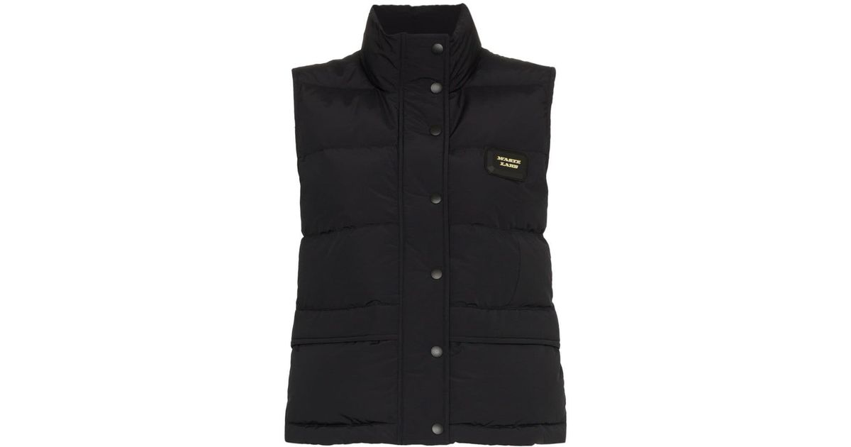 7a3d5b4354d43f Hyein Seo Waste Land Down Bomber Vest in Black - Save 34.66666666666667% -  Lyst
