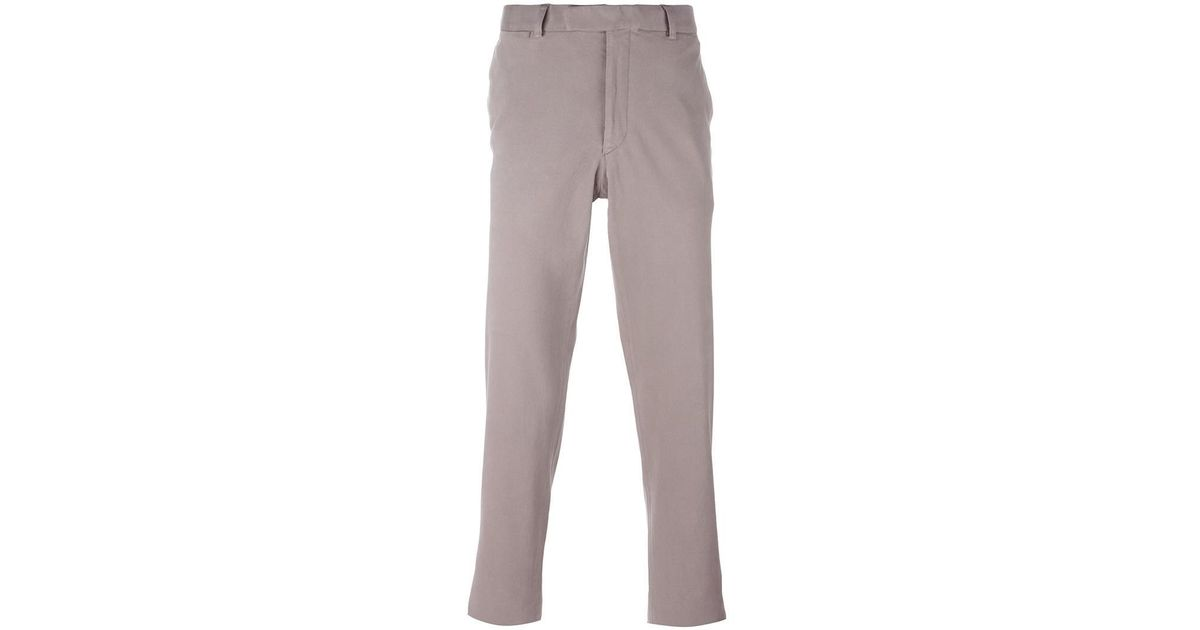Chino Slim Fit - Clinique De Mode Gris Intemporel l06NxlL