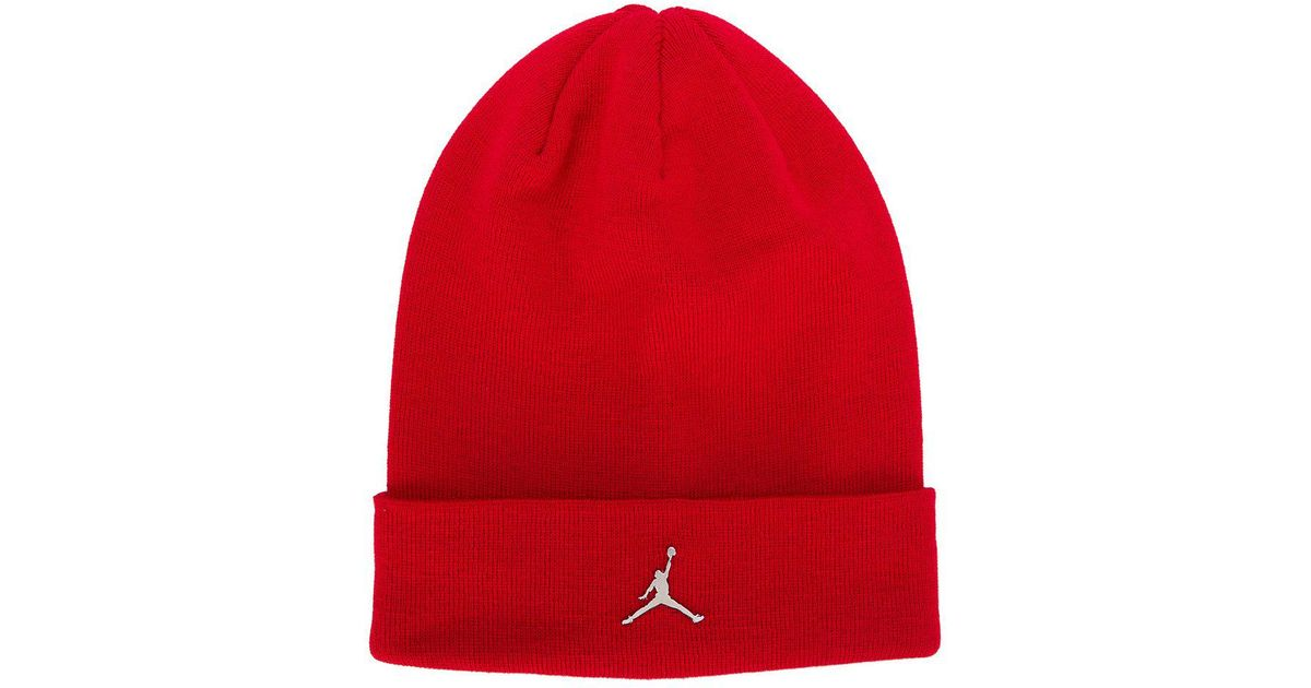 70b8619cf ... low price nike knitted beanie in red for men lyst dbe86 96f4f