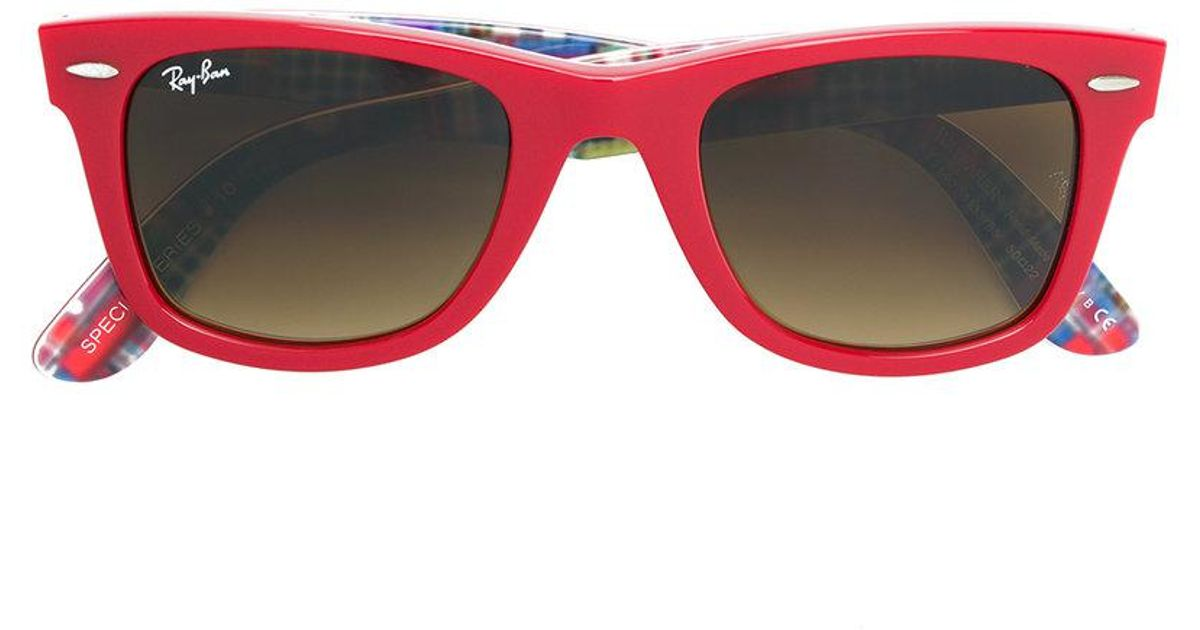 3353853d2a8e2 Ray-Ban D-frame Sunglasses in Red - Lyst