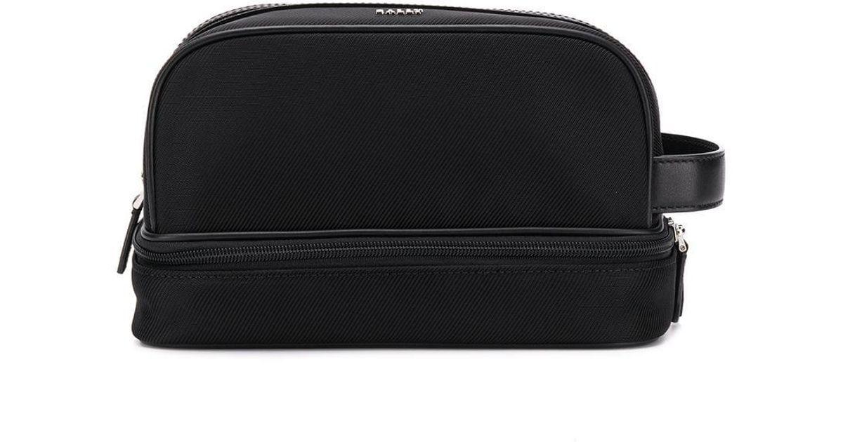 4867e76bd1 Lyst - Bally Logo Plaque Wash Bag in Black for Men