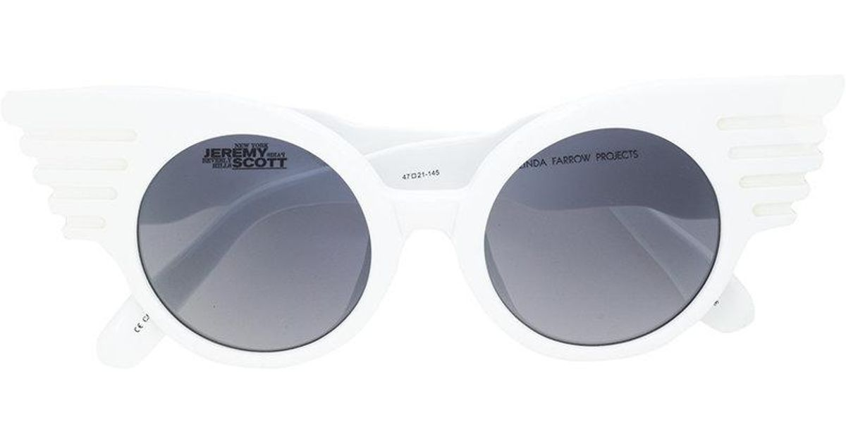 ca143146cbab Lyst - Linda Farrow Jeremy Scott Sunglasses in White