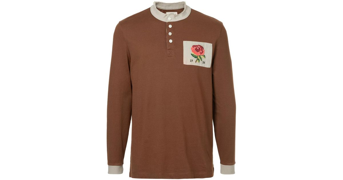 long-sleeve logo polo top - Brown Kent & Curwen Outlet Original Reliable Sale Online Sneakernews Online Prices For Sale Cheap Latest l1HSjj