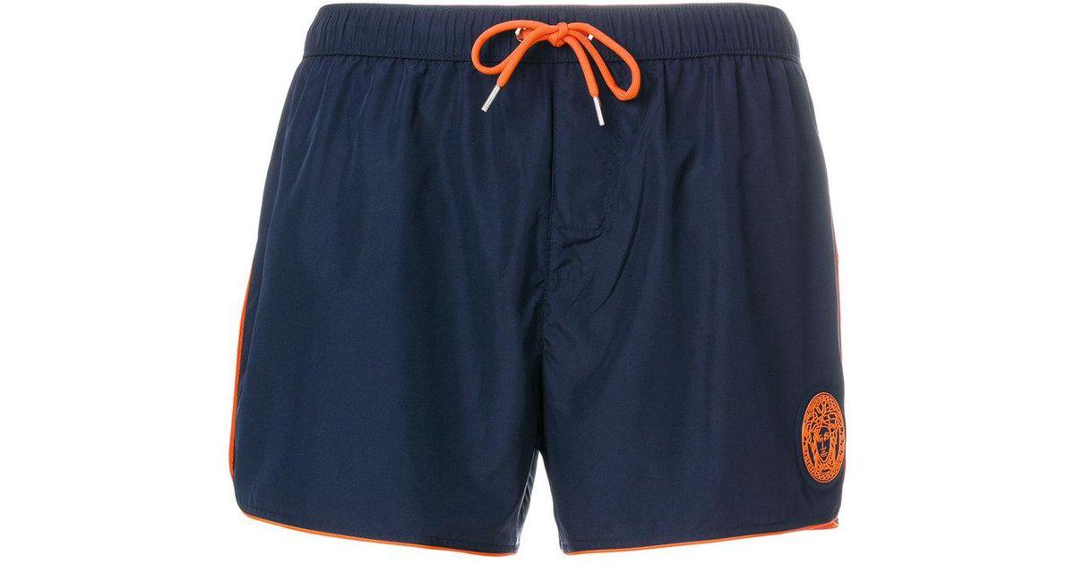 13d0fd7170 Lyst - Versace Swim Shorts in Blue for Men