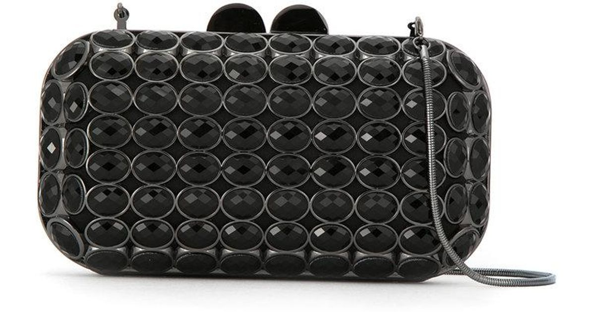 Maxi Crystal clutch bag - White Isla IIH9ZXk