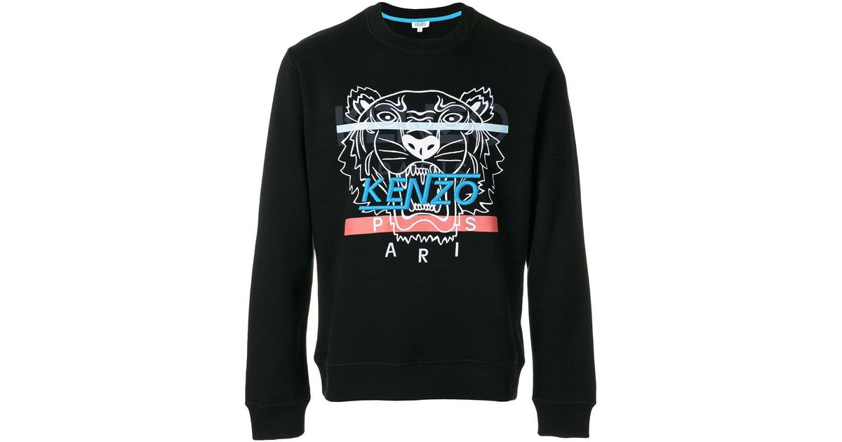 a62c98cbb19863 KENZO Hyper Tiger Sweatshirt in Black for Men - Lyst