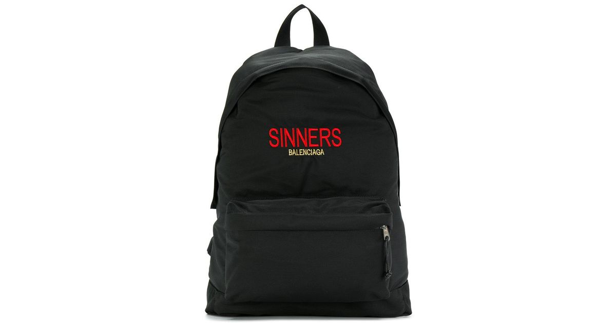 55b8006c8a Balenciaga Bal Explorer Sinners Backpack in Black for Men - Lyst