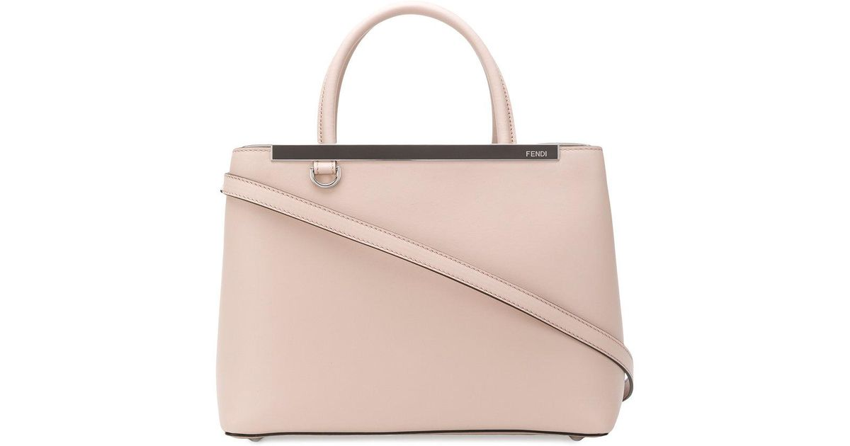 7cb38517289b Lyst - Fendi 2 Jours Tote in Pink