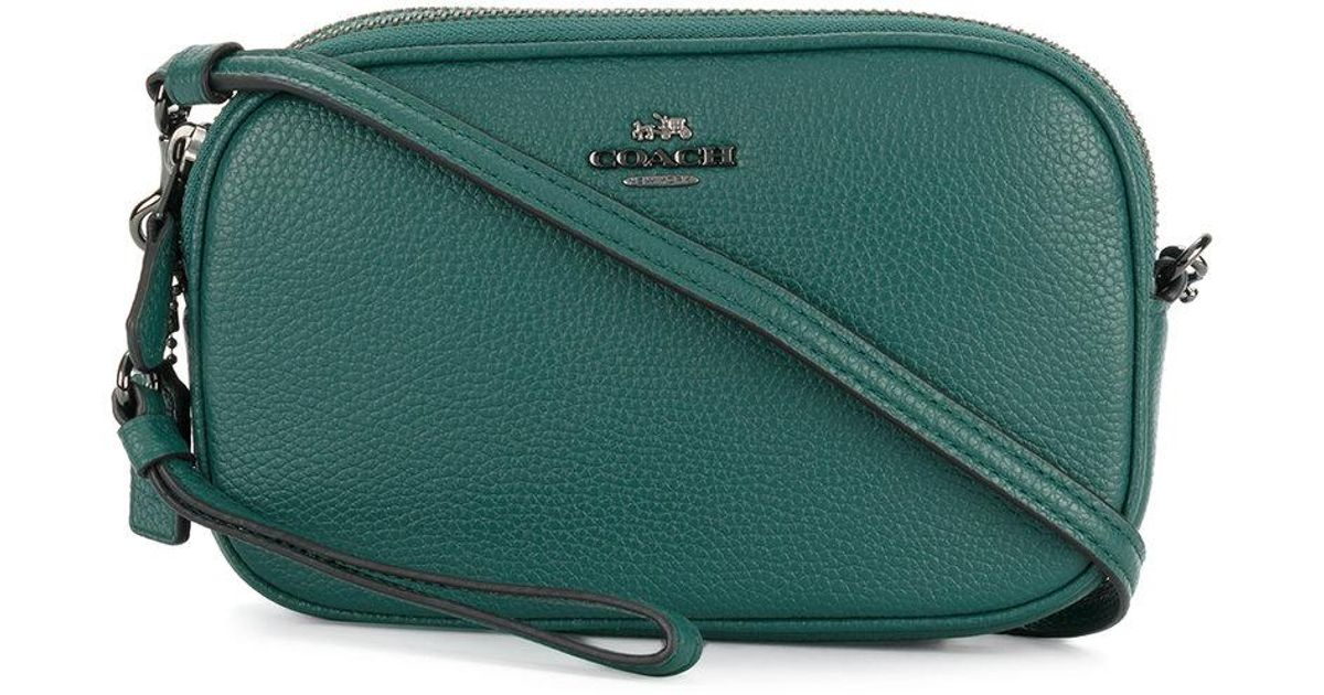 bab3b7db7a Lyst - COACH Crossbody Clutch in Green