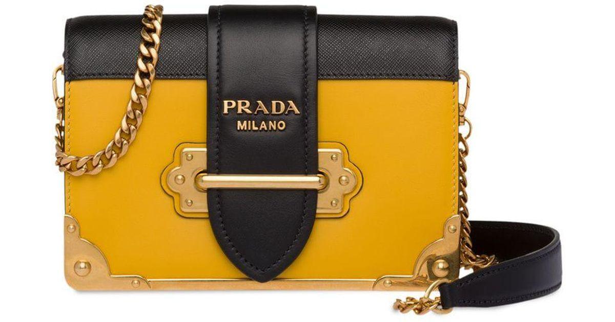 1a241c828ac6 ... canada prada cahier shoulder bag in yellow lyst 83d9c 35796 ...