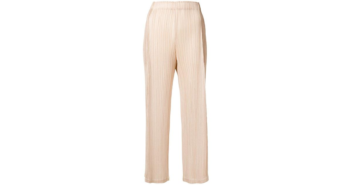 micro-pleated trousers - Nude & Neutrals Issey Miyake dD8MIGTyC