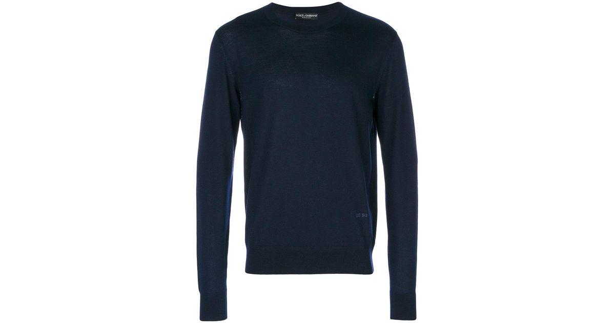 e3c7294f Dolce & Gabbana Fitted Jumper in Blue for Men - Lyst