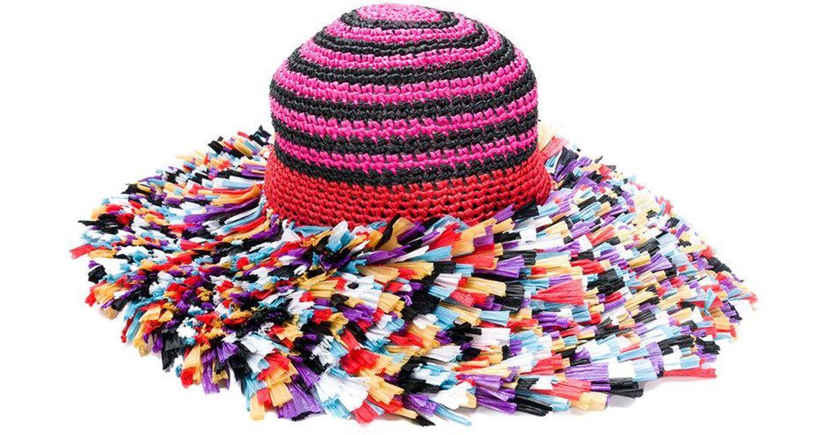 Missoni Knitted Beach Hat - Lyst 2cd42f1004d