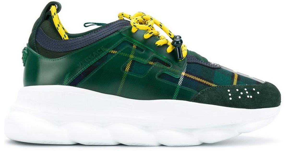 Chain Versace Green Homme Pour En Baskets Reaction Coloris wZPuOXilkT