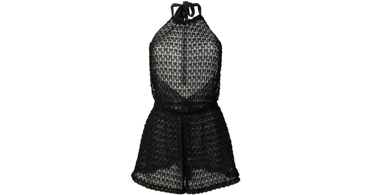 ebfefc49b4f Lyst - Missoni Lace Playsuit in Black