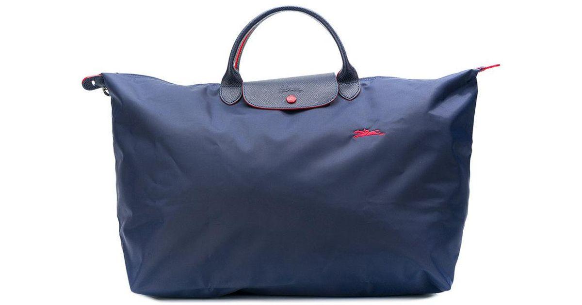 Lyst - Sac Le Pliage Club L Longchamp en coloris Bleu e82ede72d31