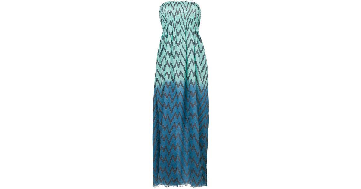 Capo zig-zag maxi beach dress - Blue Tara Matthews CcOBS3