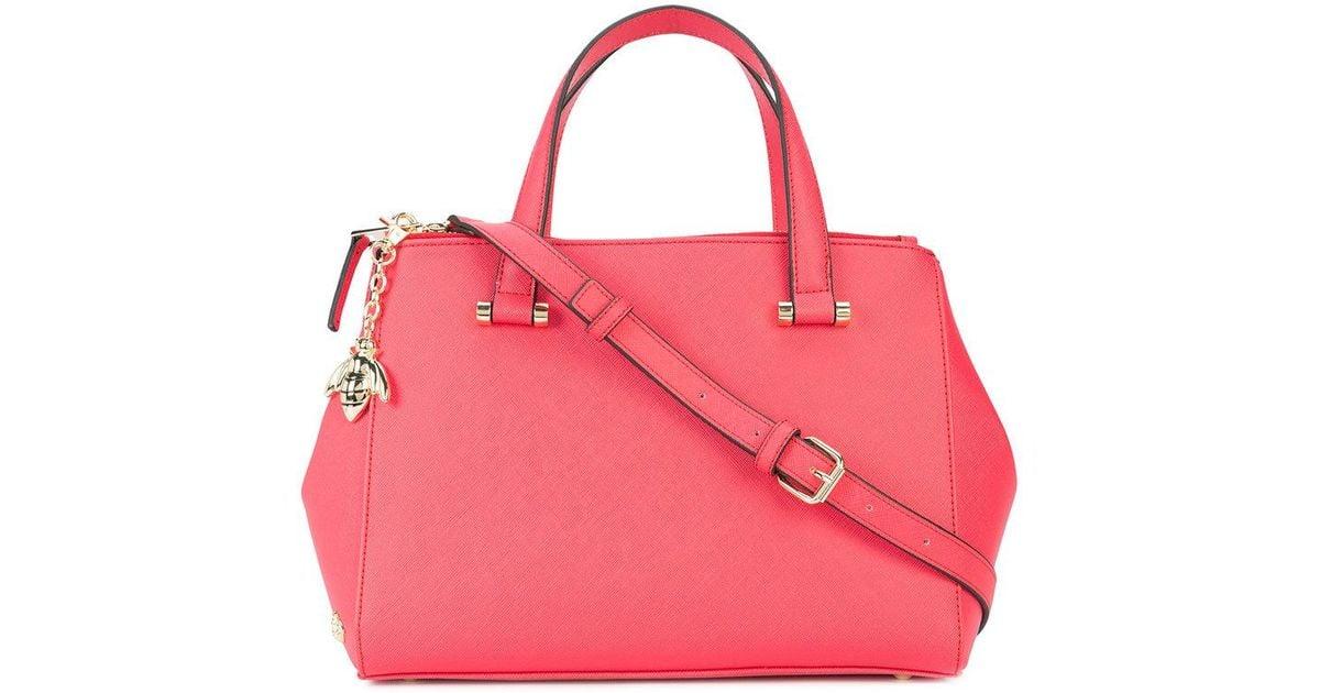 Lyst - Christian Siriano Bee Embellished Shoulder Bag in Red cbd0da75b1ca