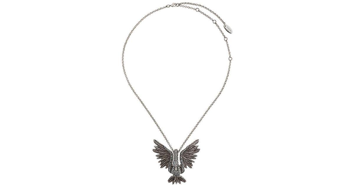 Lyst lanvin bird necklace in metallic aloadofball Gallery