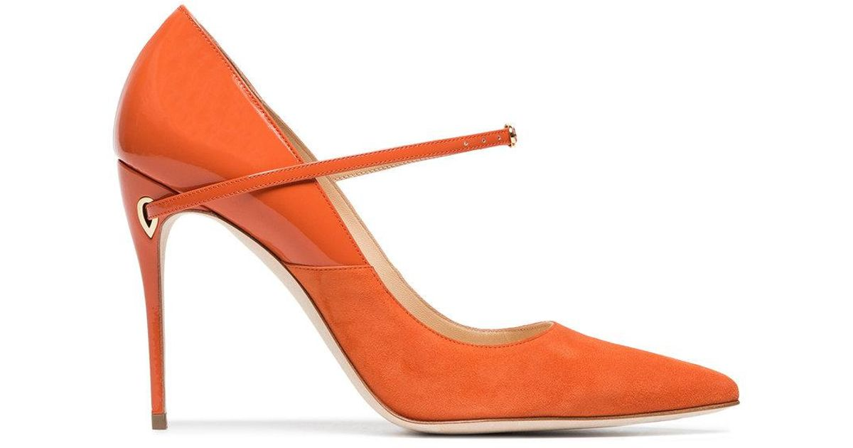 f5a867bdd0d Jennifer Chamandi Orange Lorenzo 105 Leather Suede Pumps in Orange - Save  2.258064516129039% - Lyst