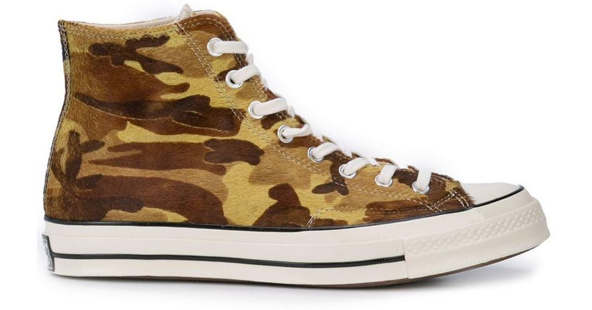 67bdd61d292 Lyst - Converse Chuck 70 Hi Camouflage Sneakers in Brown for Men