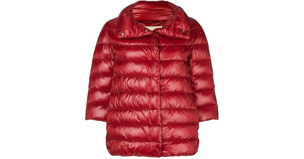 54875a609f0 Lyst - Herno Feather Down Puffer Jacket in Red