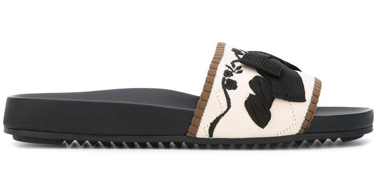 Fendi Slides with embroideries 9a26MzwCz9